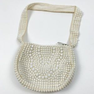 Vintage Beaded Shoulder Bag Small Embellish Purse